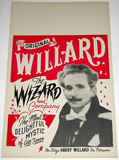 Original Harry Willard Poster/Window Card
