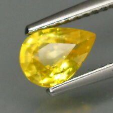 Yellow Excellent Cut Transparent Loose Natural Sapphires