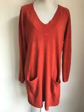 TU Womens Orange Long Jumper Dress Size 14 (55)