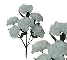 Lot of 144 White Poly Silk Carnations Wedding Home Decor Craft Bouquet Flower