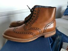 BARKER BROGUE BOOTS TAN BURNISHED EYELETS - UK 8.5 - 43,5 NOT TRICKER GRENSON