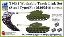 Bronco 1/35 T80E1 Workable Track Link Set (Steel Type) for M26/M46 # AB3565