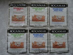 VINTAGE ROCAMAR SPANISH WINE LABELS