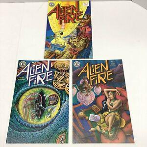 Alien Fire #1-3 (1987) COMPLETE SERIES Kitchen Sink Press RARE Horror Comic