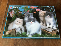 PERSIAN KITTENS 1000 PIECE JIGSAW PUZZLE BY JUMBO (1681) Complete Ex Cond