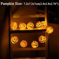 2.4m Pumpkin Skulls Lantern String Lights Battery Operated Halloween Party Decor