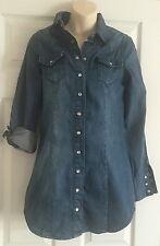 Bench Women Denim Shirt size s Eur 36 US 6