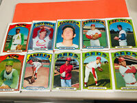 LOT 1972 Topps Baseball Card # 41 Tommy Davis Oakland 10 cards total  VG/Ex