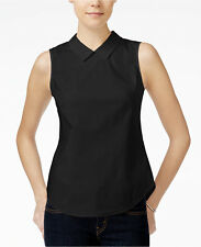 Armani Exchange women top shirt sleeveless sz S black