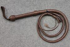 Genuine Kangaroo Leather 6 Feet Long 12 Plait Heavy Duty Bullwhip