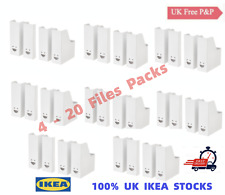 More details for 4-20 pack ikea fluns white magazine file holder filing storage boxes home office