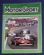 Motor Sport June 1981 Lotus 88, Belgian San Marino GPs, Alfa Romeo 8C/35, Mazda