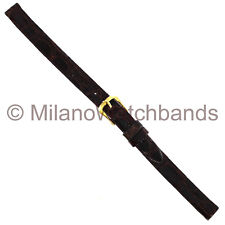 8mm Band-It Ladies Genuine Crocodile Brown Flat Unstitched Watch Band