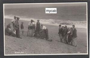 Postcard Beesands nr Salcombe Devon fish barrel lobster pot beach fishermen RP