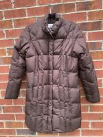 Eddie Bauer 700 Fill Goose Down Quilted Parka women's Brown Coat Size Small