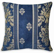 We204a Blue Damask Flower Stripe Chenille Throw Pillow Case/Cushion Cover*Size