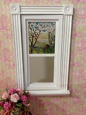 Blooming Trees & Iris Dollhouse Miniature Victorian  Stained Glass Window film