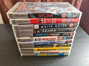 Sony PSP UMD Movies Films Bundle 11 Titles Hellboy Family Guy I am Legend GC.