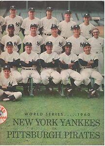 1960 PITTSBURGH PIRATES NEW YORK YANKEES WORLD SERIES PROGRAM GAME 5 SCORED