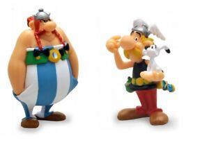 Asterix and Obelix plastic figurine set Plastoy