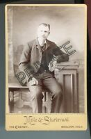 Cabinet Photo-Boulder, Colorado, Young Man W/Moustache-Meile & Sturtevant Studio