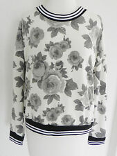 One Clothing Long Sleeve Top Floral Print Box Style Oversized Medium