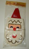 Vintage Sears Christmas Santa Claus Hot Pad Mitts - Mint in Package