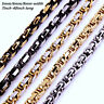 """7""""-40""""MEN Stainless Steel 5/6/8mm Silver/Gold/Black Byzantine Box Chain Necklace"""