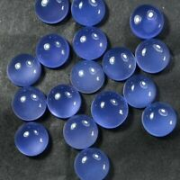 Round Cabochon 10 Pcs So Gorgeous 12x12 mm BLUE CHALCEDONY