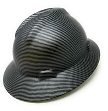 Matte Black,  Full Brim Hard Hat with with Fas-trac Suspension