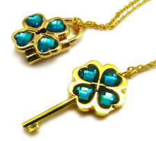 Shugo Chara! / Guardian Characters! Cos Necklace with Cyan Gem Key Lock Pendant