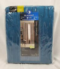 """Studio JCP Saxony Blue Luna Blackout Grommet Curtain Panel, 50""""x120"""""""