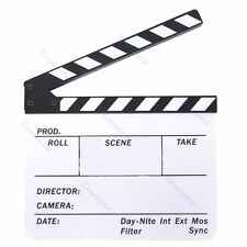 Clapper Board Slate TV Film Movie Acrylic Clapperboard High Quality UK Seller