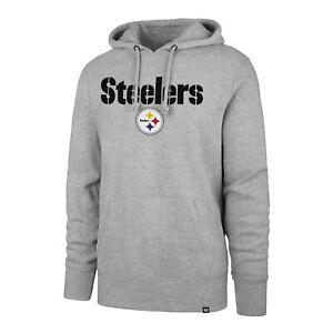 Pittsburgh Steelers Men's '47 Brand Headline Pullover Hoody Sweatshirt - Gray