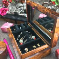 Earrings storage gift box, rings organizer jewelry box, Black velvet lined box