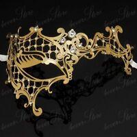 Phantom Filigree Metal Laser-Cut Venetian Masquerade Mask M7131 [Gold]