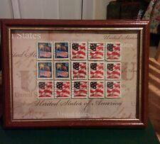 USA flag picture, altered art, postage stamp art, United States old stamps
