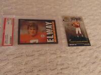 1985 Topps John Elway Card #238 PSA Nm-Mt 8 Broncos HOF + 2001 Hashmarks #HM-7