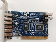Scheda PCI COMBO 2+1 FIREWIRE 4+1 USB VIA VT6306 + VT6214L