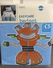 NEXT - SINGLE DUVET SET WITH ROBOTS ALL OVER IN COLOURS - BNWT