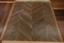 GENUINE European Oak Parquetry Flooring Chevron 710x90x18mm SOLID TIMBER