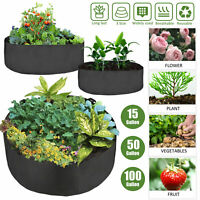 15-100 Gallon Grow Bag Garden Felt Flower Veagetable Plant Fabric Pot Container