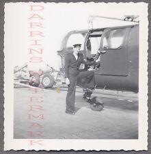 Vintage Photo Navy Sailor Man & Sikorsky S51 Helicopter 695985