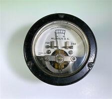 Vintage Weston Round Panel Meter Gauge Dc Millivolts Model 1091