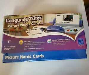 Educational Insights Language Tutor: Picture Word Cards; Factory Sealed