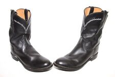 Justin Boots Men's U.S.A. Roper Boot,Black Chester Size 8.5D Preowned
