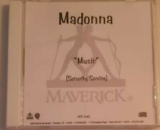 Madonna Music US promotional 1 track security service CDr