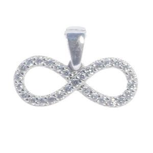 Infinity Unendlichkeits Zeichen 925 Silber Anhänger Zirkonia  Bella Carina