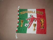 Large Mondiali World Cup Italia 1990 Flag Approx 67 x 58 cm roped