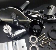 """New Chrome 21""""-26"""" Wheels Triple Trees Kits 11 Deg. For Harley Touring 97-13"""